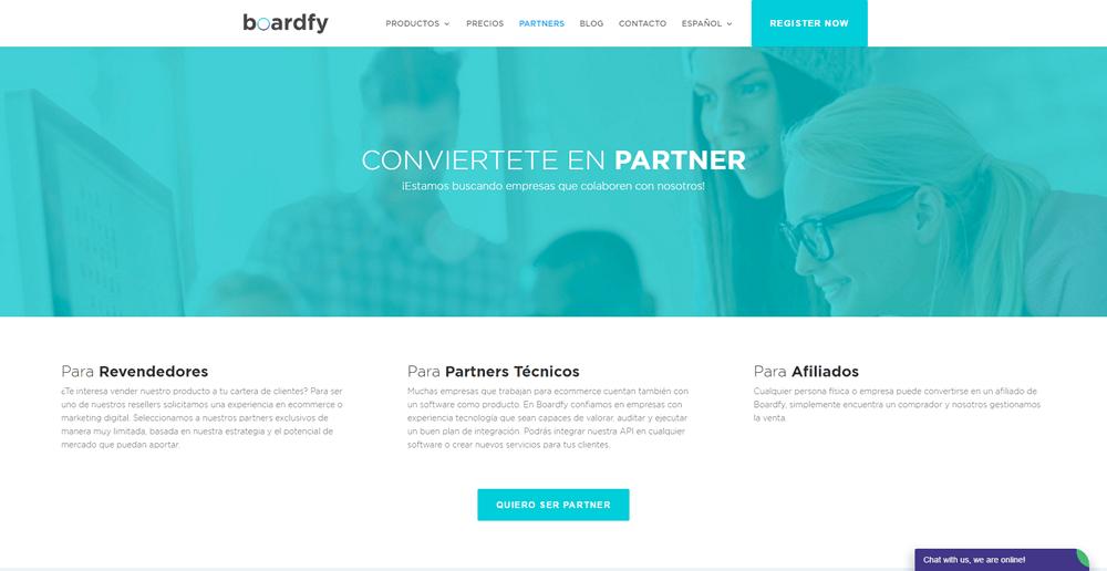 Nueva imagen programa de partners de boardfy