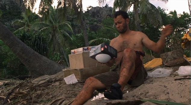 Tom Hanks náufrago logística