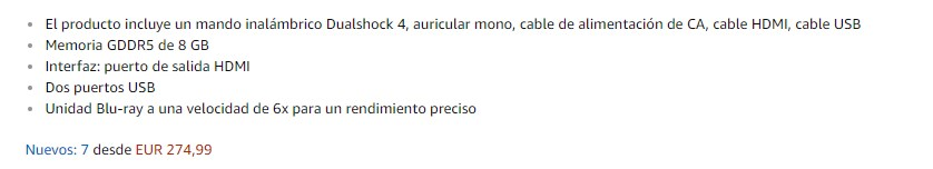 Los atributos en Amazon
